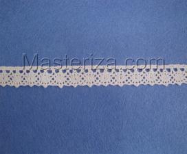 Кружевная тесьма, артикул 644, ширина 15 мм, цвет белый