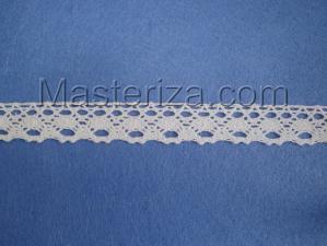 Кружевная тесьма, артикул 905-2, ширина 20 мм, цвет белый