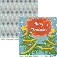 "Бумага для скрапбукинга ""Новый год"",2800880012173"