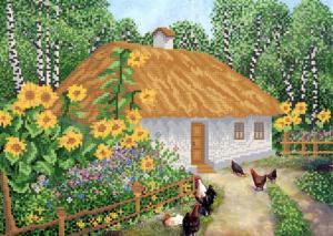 Украинский домик. Размер - 37 х 26 см.