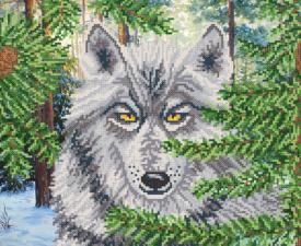 Серый охотник. Размер - 32 х 26 см.