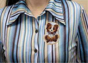 """Набор для вышивки бисером украшения на натуральном художественном холсте """"Собачка"""""""