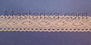 Кружевная тесьма, артикул 32-6, ширина 22 мм, цвет белый