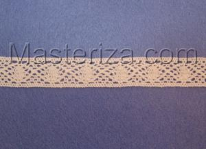 Кружевная тесьма, артикул 354, ширина 15 мм, цвет белый