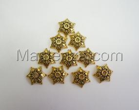 Шапочки для бусин 064,золото,10 шт.