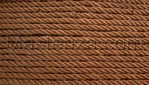 Шнур витой. Цвет (коричневый),8мм