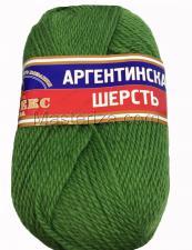Пряжа Аргентинская шерсть. Цвет 114 (киви)