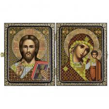 """Складень """"Христос Спаситель и Пресвятая Богородица Казанская"""""""