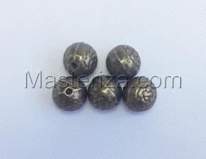Бусины металлические (бронза),КМ112,5 шт