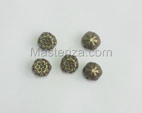 Бусины металлические (бронза),КМ113,5 шт