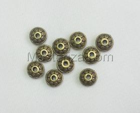 Бусины металлические (бронза),КМ117,10 шт