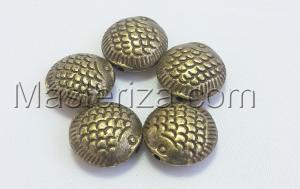 Бусины металлические (бронза),КМ120,5 шт