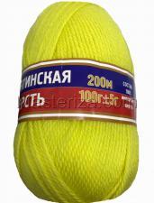 Пряжа Аргентинская шерсть. Цвет 029 (ярк.лимон)