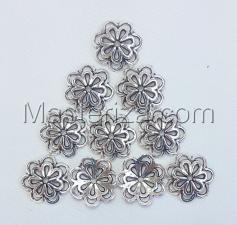 Шапочки для бусин 061,серебро,10 шт.