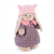 Зайка Ми в пальто и розовой шапке, мягкая игрушка BudiBasa