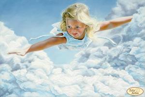 Детские сны. Размер - 36 х 24 см.