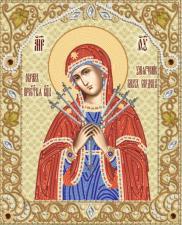 """Икона Божией Матери """"Умягчение злых сердец"""". Размер - 26 х 31 см."""