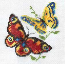 Бабочки-красавицы. Размер - 10 х 11 см.