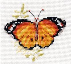 Яркие бабочки.Оранжевая. Размер - 9 х 8 см.