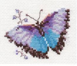 Яркие бабочки.Голубая. Размер - 8 х 6 см.