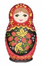 Матрёшка. Хохломская роспись. Размер - 16 х 25 см.
