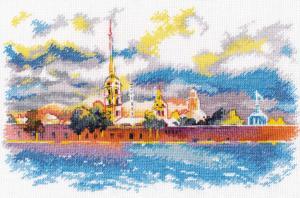 Петропавловская крепость (по мотивам иллюстраций Анны Соколовой). Размер - 27 х 18 см.