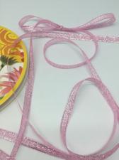 Лента атласная с люрексом,Skroll,6 мм,цвет №004