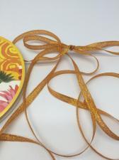 Лента атласная с люрексом,Skroll,6 мм,цвет №024