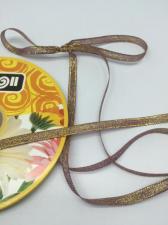 Лента атласная с люрексом,Skroll,6 мм,цвет №046