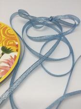 Лента атласная с люрексом,Skroll,6 мм,цвет №070