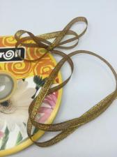 Лента атласная с люрексом,Skroll,6 мм,цвет №074