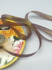 Лента атласная с люрексом,Skroll,12 мм,цвет №046