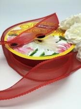 Лента декоративная, Skroll, 25 мм, модель 1006, цвет красный