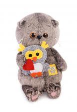 Басик BABY с совёнком, мягкая игрушка BudiBasa