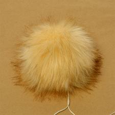 Помпон искусственный мех, песец 17-18 см, цв.молочный №19 А