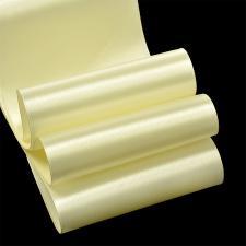 Лента атласная,75 мм,IDEAL,цвет 3004 светло-кремовый