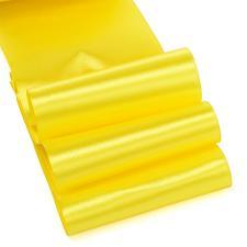 Лента атласная,75 мм,IDEAL,цвет 3014 жёлтый