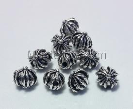Бусины металлические (серебро),КМ128,10 шт