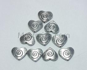 Бусины металлические (серебро),КМ133,10 шт