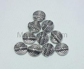 Бусины металлические (серебро),КМ137,10 шт