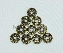 Бусины металлические (золото),КМ103,10 шт