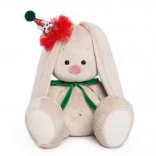 Зайка Ми в колпачке с зелёным бантиком, мягкая игрушка Budi Basa