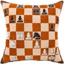 """Набор для вышивания подушки """"Шахматы"""". Размер - 40 х 40 см."""