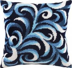 """Набор для вышивания подушки """"Волны"""". Размер - 40 х 40 см."""