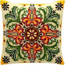 """Набор для вышивания подушки """"Цветочный калейдоскоп"""". Размер - 40 х 40 см."""