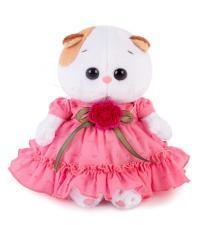 Ли-Ли BABY в платье с вязаным цветочком, мягкая игрушка BudiBasa