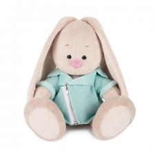 Зайка Ми в голубой меховой курточке, мягкая игрушка BudiBasa