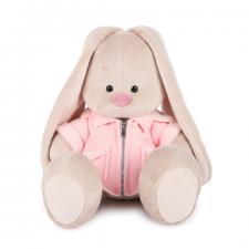 Зайка Ми в розовой меховой курточке, мягкая игрушка BudiBasa,размер 18 см
