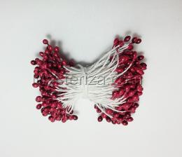 Тычинки, цвет № 163 (бордовый). Размер - 3 мм,150 шт