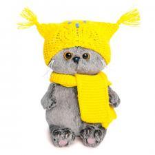 Басик BABY в шапке-сова и шарфе. Размер - 20 см.